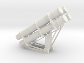 1:48 scale RGM-84 HARPOON launchers in White Natural Versatile Plastic