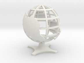 Globe of Malaysia in White Natural Versatile Plastic