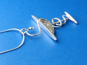 Bowl of Hygeia RX Pendant for Pharmacists in Fine Detail Polished Silver