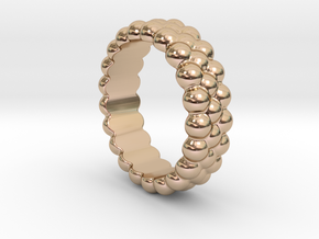 RING BUBBLES 29 - ITALIAN SIZE 29 in 14k Rose Gold Plated Brass