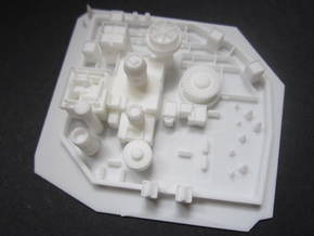 Winterfell GOT (2) in White Natural Versatile Plastic