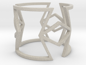 Other shapes and rhombus Ring Size 11 in Natural Sandstone