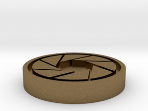 Aperture Science Coin in Natural Bronze