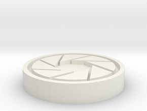 Aperture Science Coin in White Natural Versatile Plastic