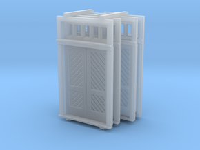N Scale Booking Station Standard Door Set in Smooth Fine Detail Plastic