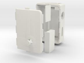 MARK V v3 + Cover push-button + DNA Case in White Natural Versatile Plastic