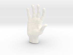 Man's hand in 5cm Passed in White Processed Versatile Plastic