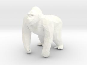 Gorilla in 5cm Passed in White Processed Versatile Plastic