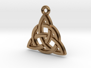 """""""Trinity Knot"""" Pendant, Cast Metal in Natural Brass"""