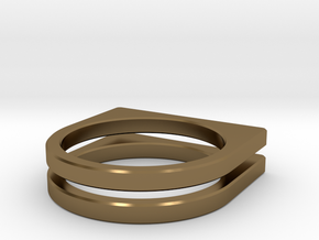 Layer Ring(s) (US Size 6.5) in Polished Bronze