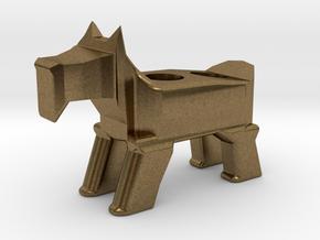 Terrier Pencil Holder in Natural Bronze