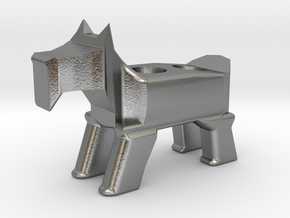 Terrier Pencil Holder in Natural Silver