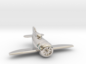 Gee Bee Racer in Rhodium Plated Brass