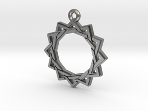 """Dodecagram 3.0"" Pendant, Cast Metal in Natural Silver"