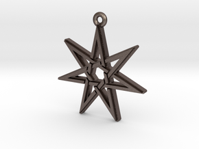 Heptagram pendants and necklaces shapeways jewelry heptagram 30 pendant printed metal aloadofball