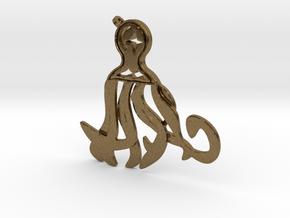 Midnight Octopus in Natural Bronze