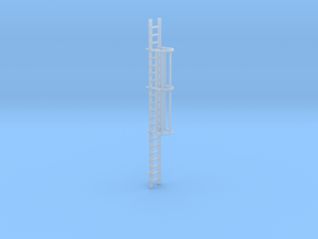 'N-Scale' - 20' Caged Ladder in Smooth Fine Detail Plastic