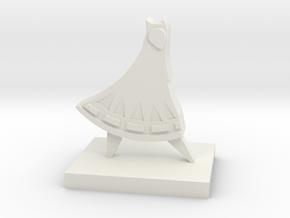 Journey Companion Trophy in White Natural Versatile Plastic: Medium