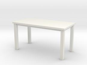 Miniature 1:48 Table 5 Foot in White Natural Versatile Plastic