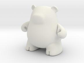 Mini Iggly in White Natural Versatile Plastic