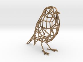 Bird wireframe (thicker wireframe) in Natural Brass