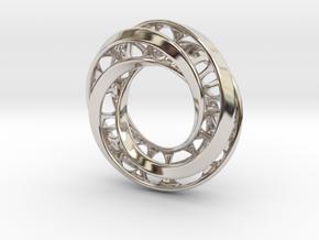 Mobius Ring Pendant v4 *Smaller* in Platinum