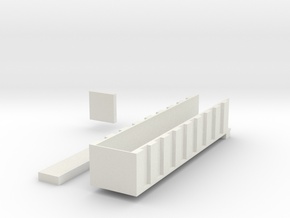 43 foot end dump for 1/64 scale DCP semi in White Natural Versatile Plastic