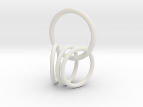 4 rings  in White Natural Versatile Plastic