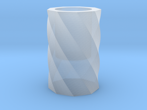 Twisted polygon vase in Smooth Fine Detail Plastic