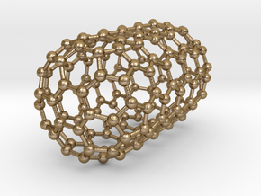 0078 Carbon Nanotube Capped (6,6) in Polished Gold Steel