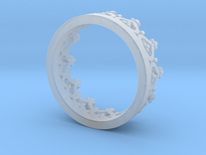 Crown ring in Smooth Fine Detail Plastic