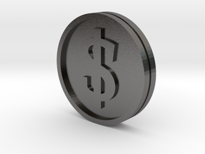 €/$ Coin - Euro Dollar Coin in Polished Nickel Steel