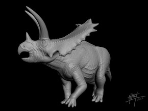 Pentaceratops 1/40 in White Natural Versatile Plastic