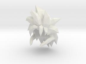 Custom Gogeta SSj4 Inspired hair for Lego in White Natural Versatile Plastic