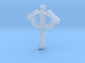 T W Pendant 2 in Smooth Fine Detail Plastic