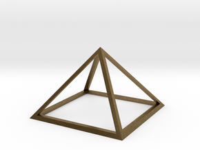3D Wireframe Pyramid in Natural Bronze