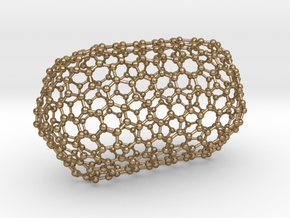 0081 Carbon Nanotube Capped (10,10) in Polished Gold Steel