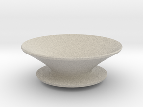 Round fruit bowl in Natural Sandstone