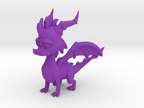Spyro the Dragon - 5cm in Purple Strong & Flexible Polished
