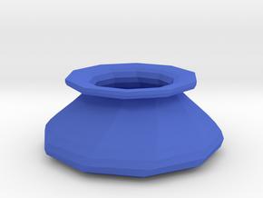 Twisted vase in Blue Processed Versatile Plastic