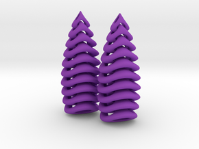 Tetron-earrings in Purple Processed Versatile Plastic: Small