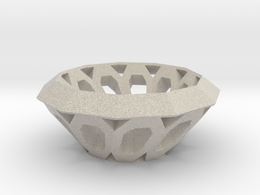 Bowl with oval holes in Natural Sandstone