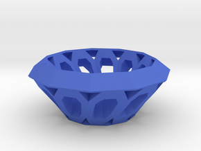 Bowl with oval holes in Blue Processed Versatile Plastic