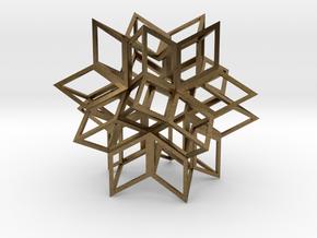 Rhombic Hexecontahedron, Open in Natural Bronze