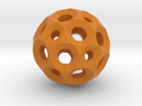 Sphere with holes in Full Color Sandstone