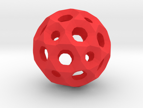 Sphere with holes in Red Processed Versatile Plastic