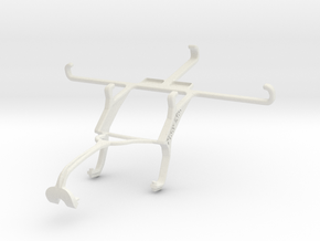 Controller mount for Xbox 360 & Samsung Galaxy S6 in White Natural Versatile Plastic