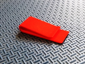 Money clip in Red Processed Versatile Plastic
