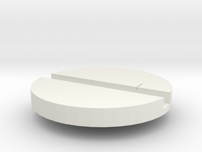 Slotted Disk in White Natural Versatile Plastic
