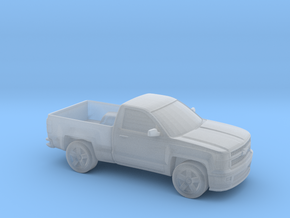 1/87 2015 Chevrolet Silverado Single Cab in Smooth Fine Detail Plastic